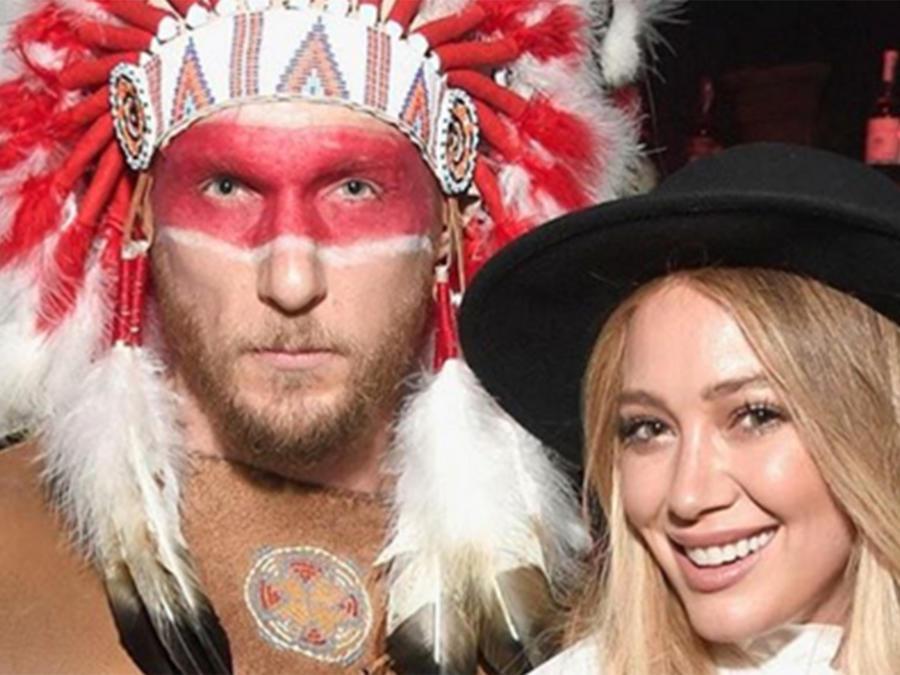 El disfraz de Hilary Duff y su novio causa polémica en las redes