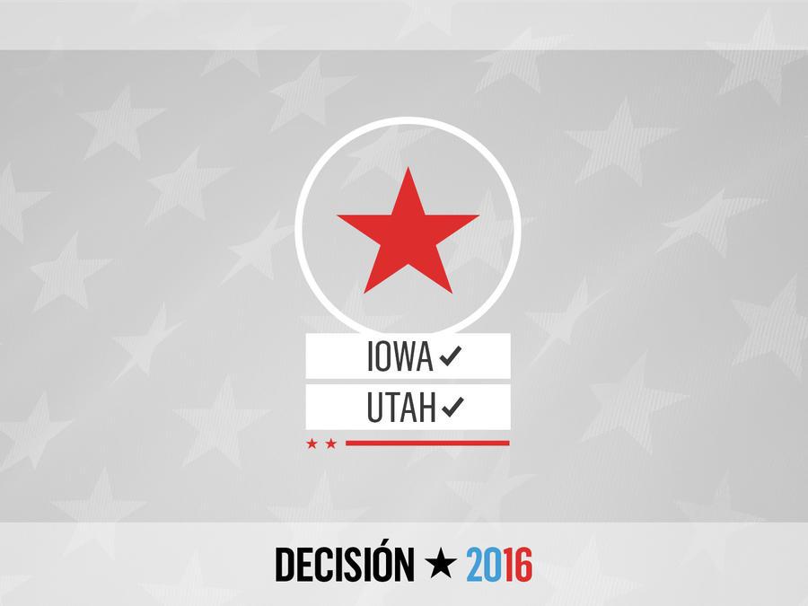 Gráfica Iowa y Utah Trump