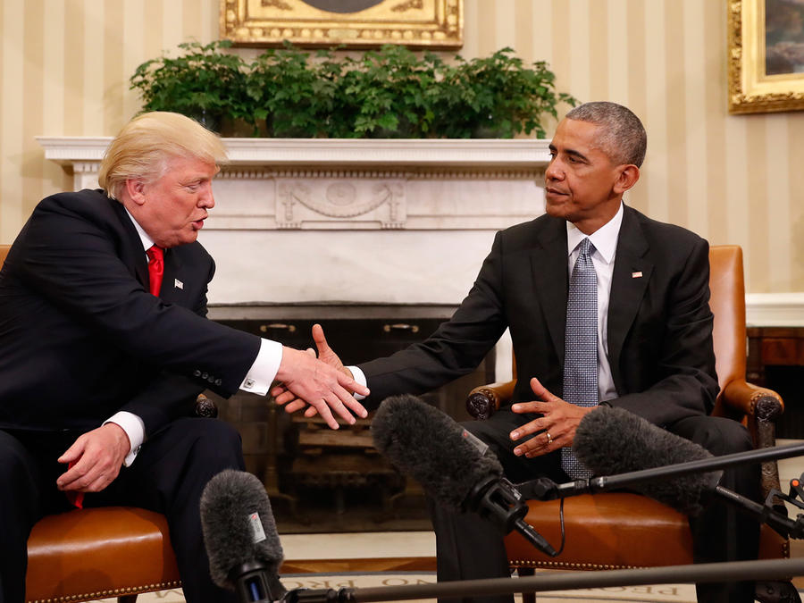 Obama y el presidente electo, Donald Trump, en reunión en La Casa Blanca el jueves 10 de noviembre del 2016