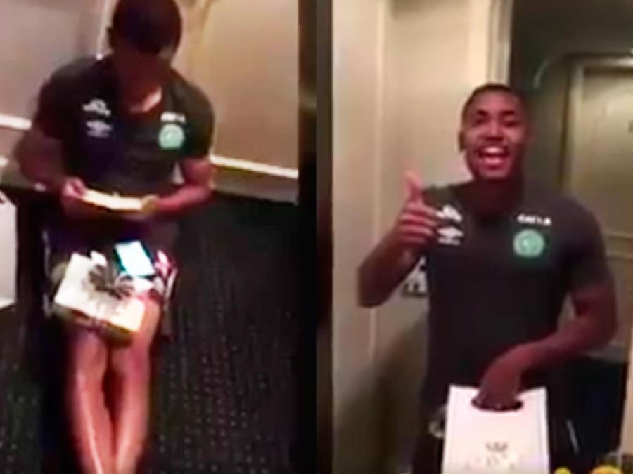 jugador tiahinho al enterarse que iba a ser padre