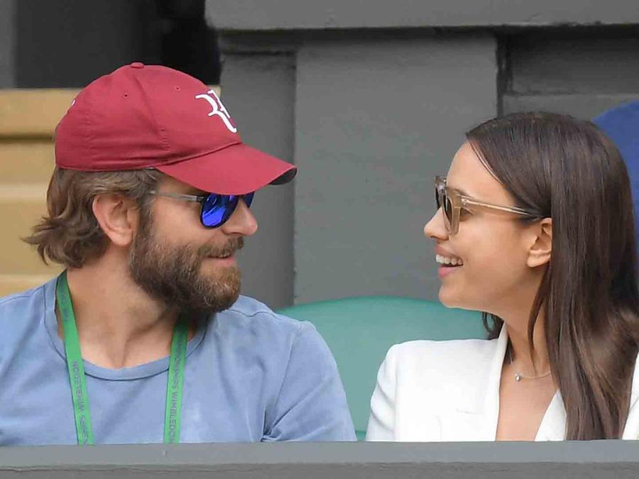 Irin Shayk y Bradley Cooper en Wimbledon
