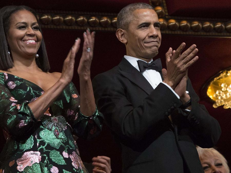 Michelle Obama y Barack Obama en el Kennedy Center Honors 2016