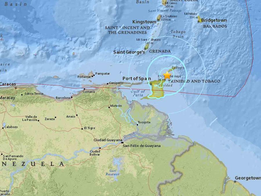 Terremoto en Trinidad y Tobago