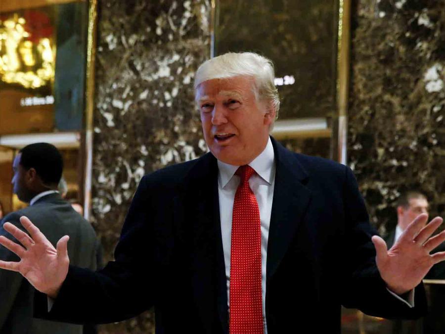 El presidente electo Donald Trump