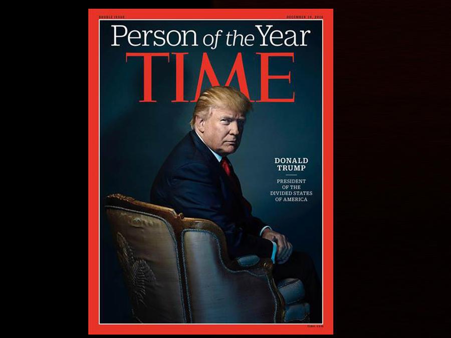 Portada de la revista TIME, la publicación eligió al presidente electo Donald Trump como personaje del 2016