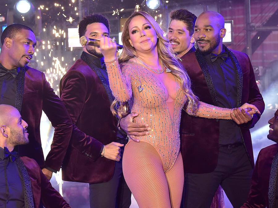 Mariah Carey en el fin de año en Nueva York