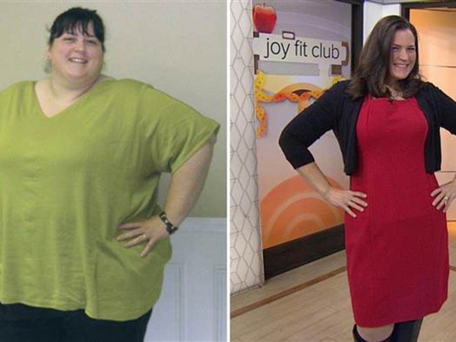 Monica Thomas antes y después de la pérdida de peso