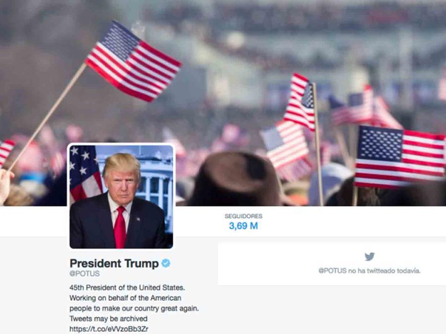 Twitter de Donald Trump, POTUS