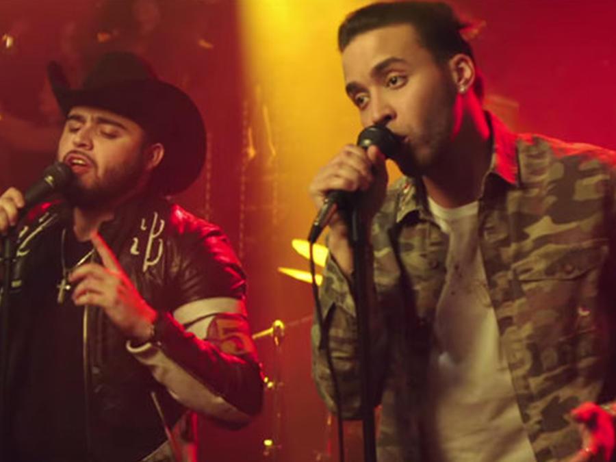 """Prince Royce & Gerardo Ortiz en el video musical """"Moneda"""""""