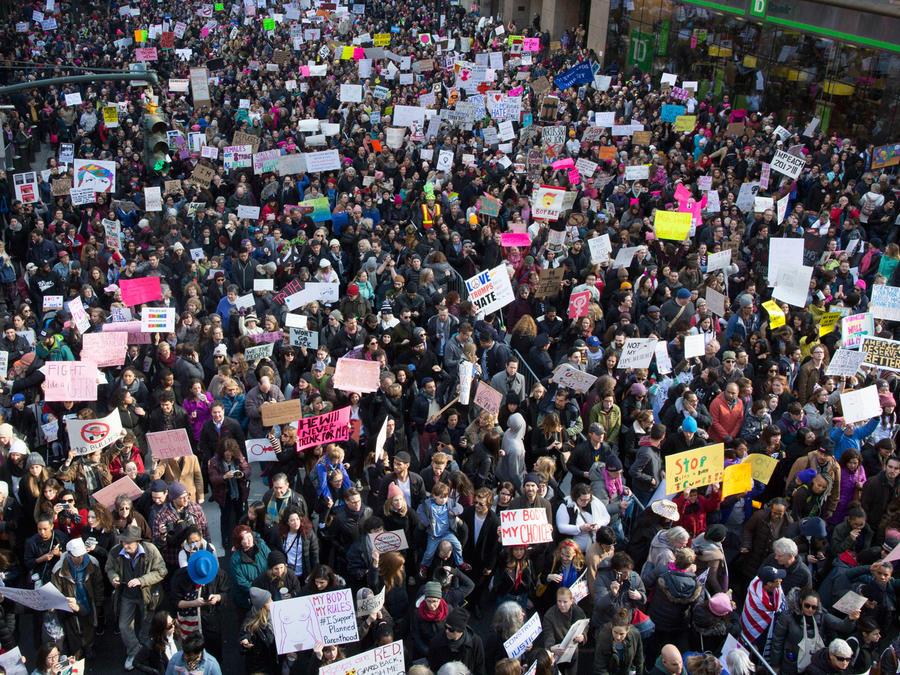 Protestas contra Trump en Nueva York