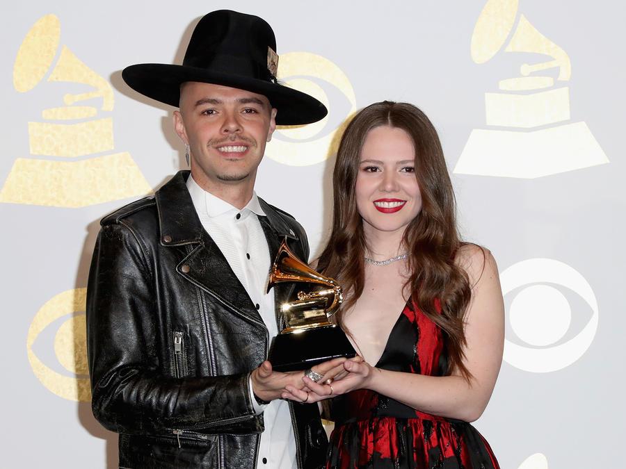 Jesse & Joy luego de ganar Best Latin Pop Album por 'Un Besito Mas'