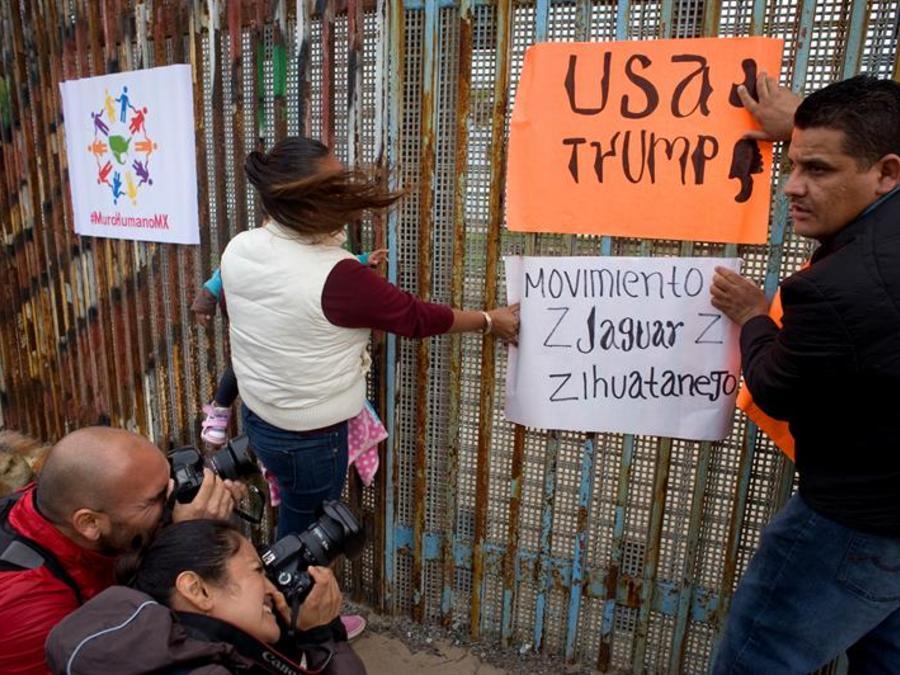Protestas contra Trump en la frontera México-EEUU