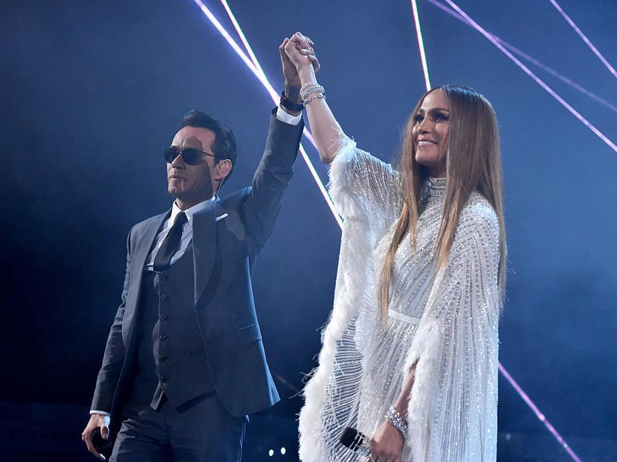 Marc Anthony y  Jennifer Lopez en los Premios Latin Grammy