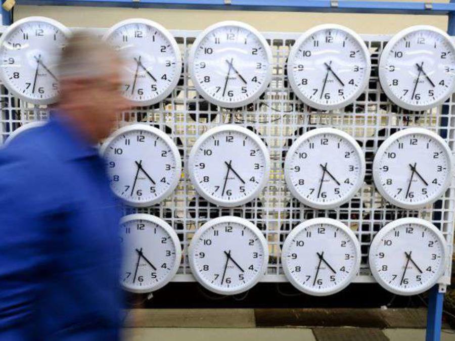 Relojes en exposición en una tienda en EEUU
