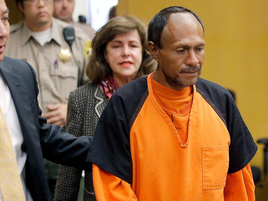 El indocumentado mexicano Juan Francisco López Sánchez acude a corte en San Francisco el 7 de julio del 2015