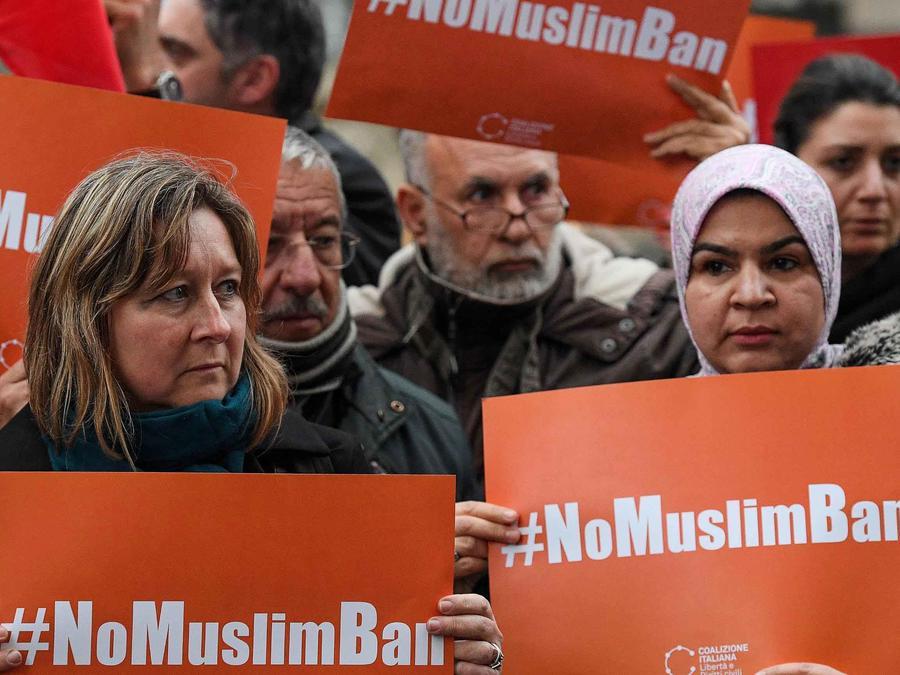 Protestas contra veto migratorio de Trump a 6 países musulmanes