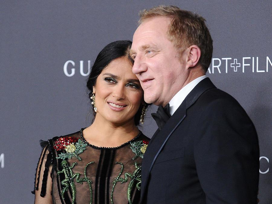 Salma Hayek y su esposo