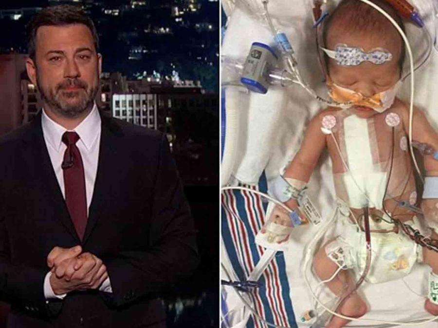 Jimmy Kimmel y su hijo recién nacido