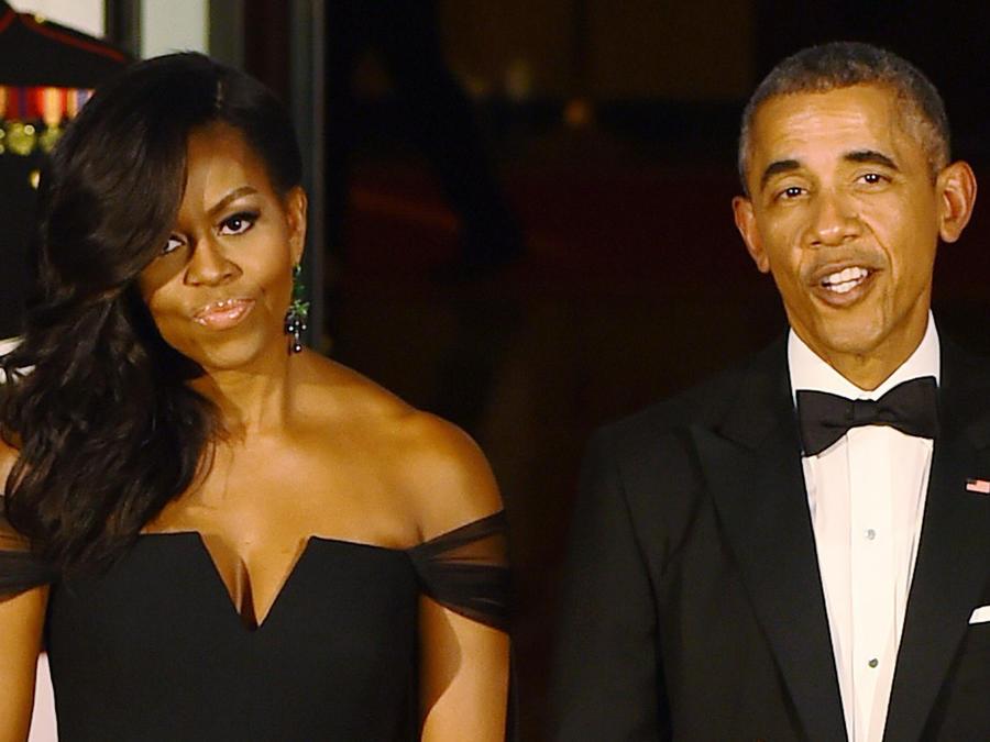 Barack y Michelle Obama en 2015