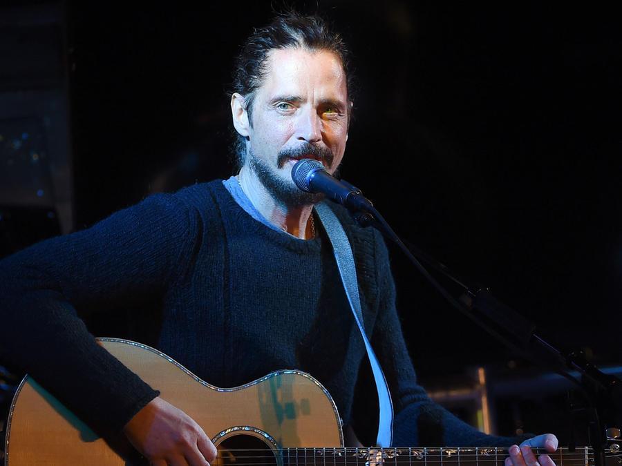 Chris Cornell en un concierto de enero de 2017