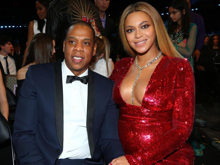 Beyonce and Jay-Z at an award show