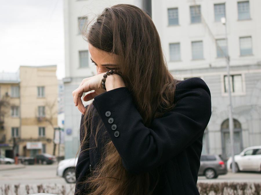 Chica llorando