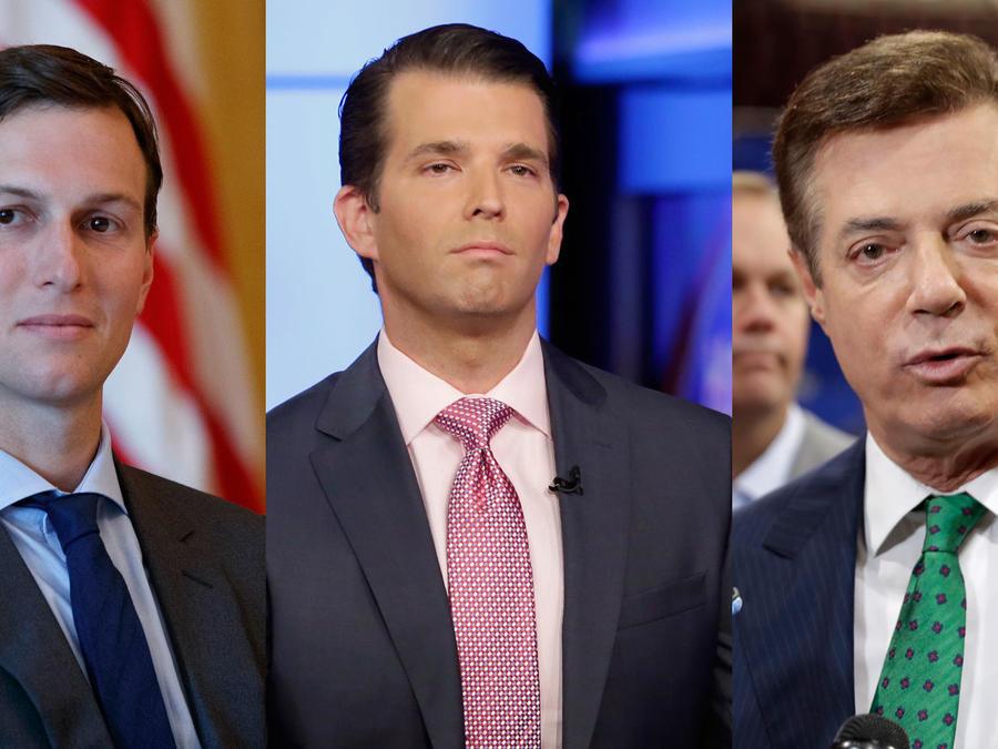 Jared Kushner, Donald Trump Jr y Paul Manafort