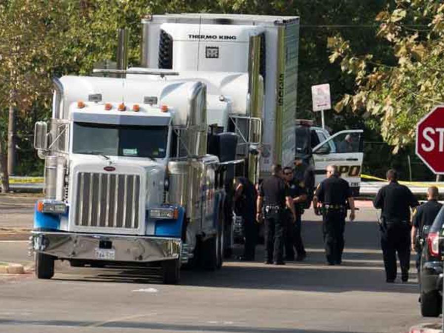Camión en el que murieron 10 indocumentados en San Antonio, Texas