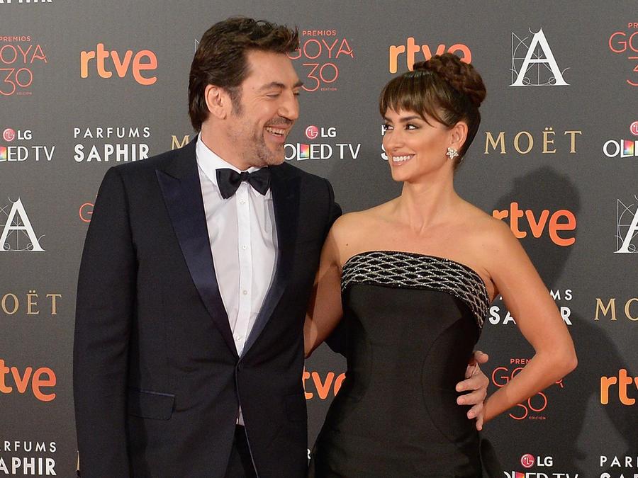 Javier Bardem y Penélope Cruz en los Premios Goya