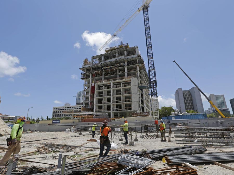 Edificio en construcción en Miami en mayo de 2017