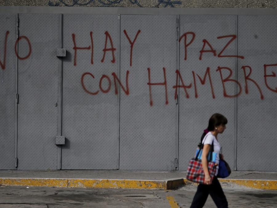 Una pintada en un muro de Caracas el pasado miércoles.