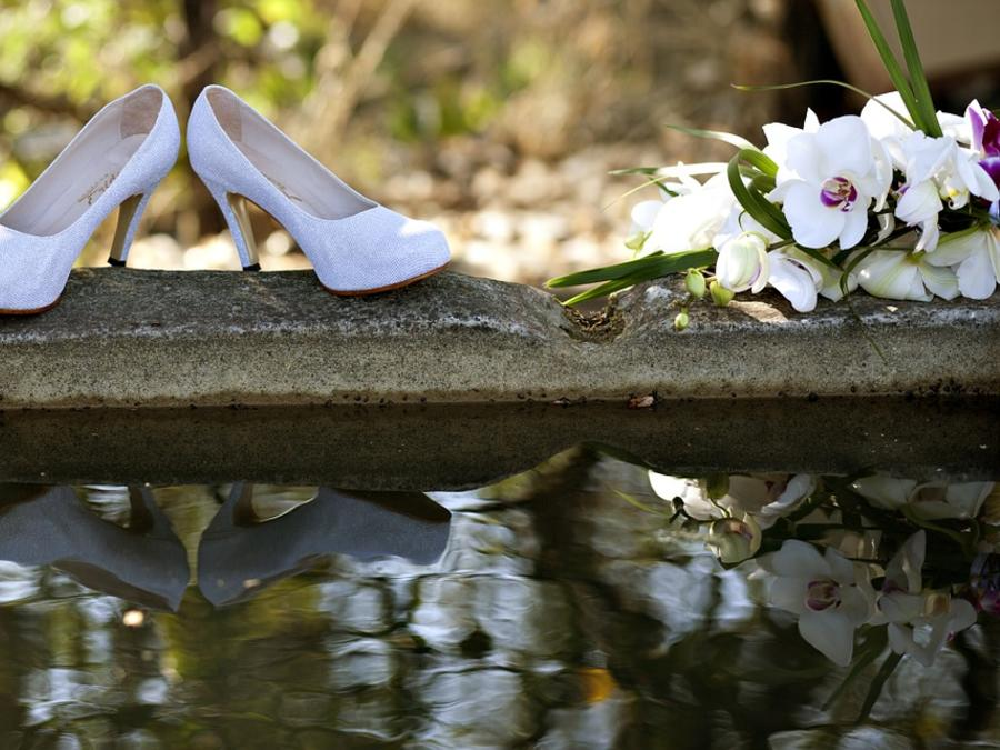 Boda y ramo de novia
