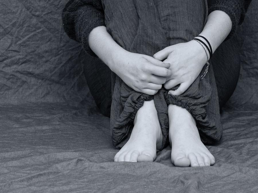 Desperate Depressed Sad Hands Cry Folded Feet