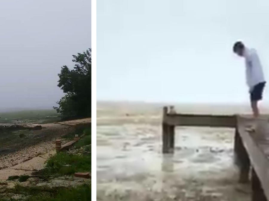 Irma succionó el mar en las costas por esta razón