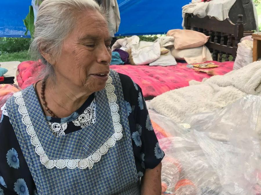 Doña Virginia Ponce, habitante de Santa María Tepepayeca.