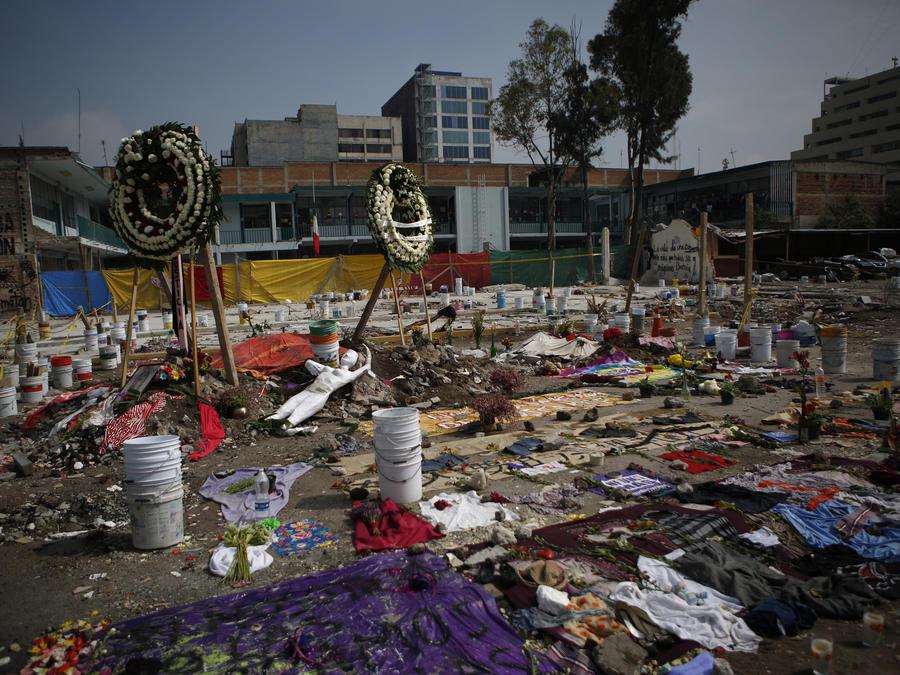 Daños por el terremoto en México