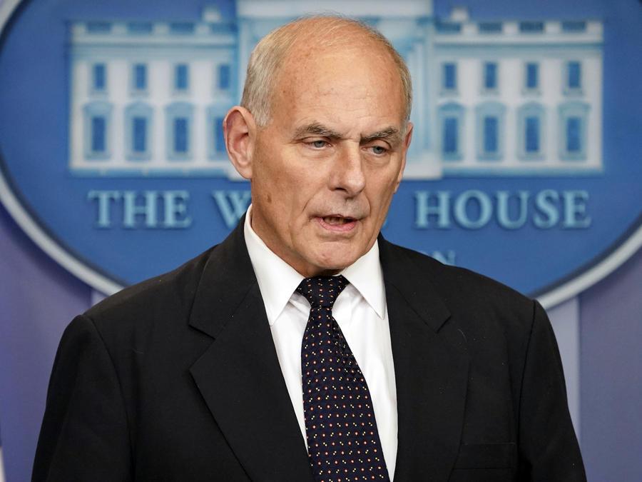 Kelly, durante la conferencia de prensa este jueves en la Casa Blanca.