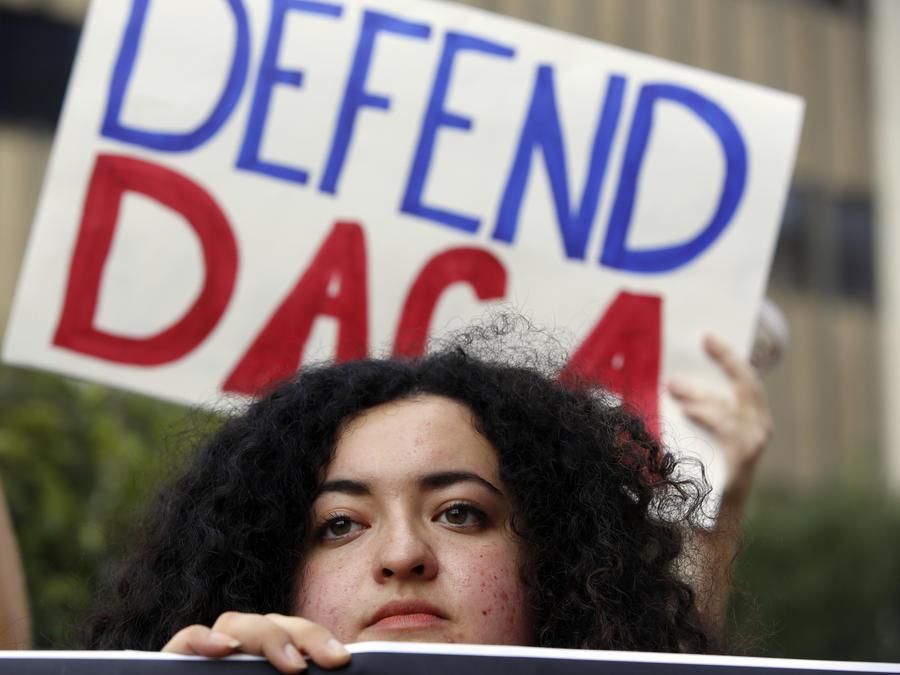 Protesta a favor de DACA en Los Ángeles en septiembre.