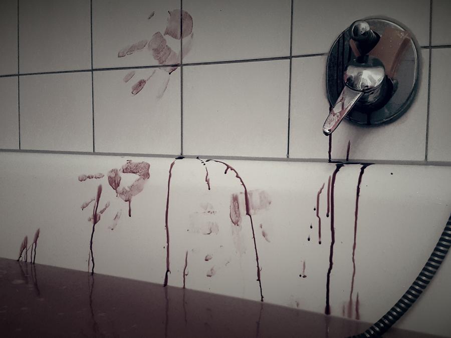 baño con sangre
