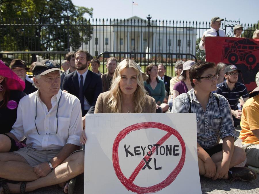 Protesta contra el oleoducto de Keystone en agosto de 2011 en Washington.