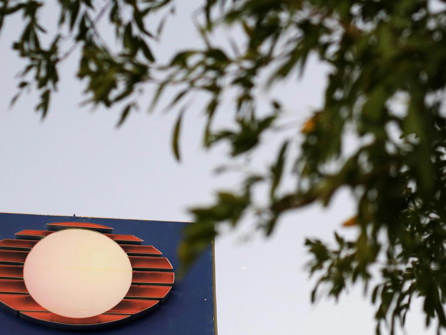En la imagen el logo del grupo mexicano Televisa en una fotografía tomada en sus oficinas de Ciudad Juárez en noviembre de 2017.