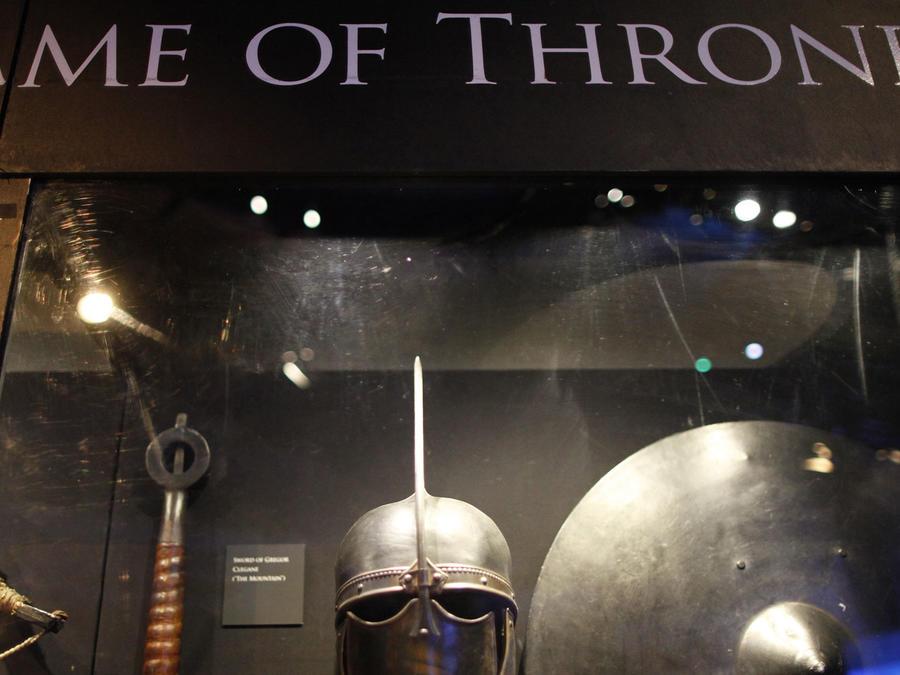 Exhibición de artículos de Juego de Tronos en Irlanda