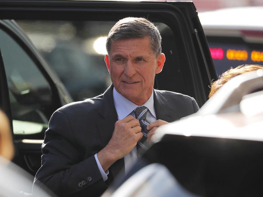 El exasesor de Seguridad Nacional Michael Flynn este viernes 1 de diciembre a su llegada a la Corte del Distrito de Estados Unidos, Washington.