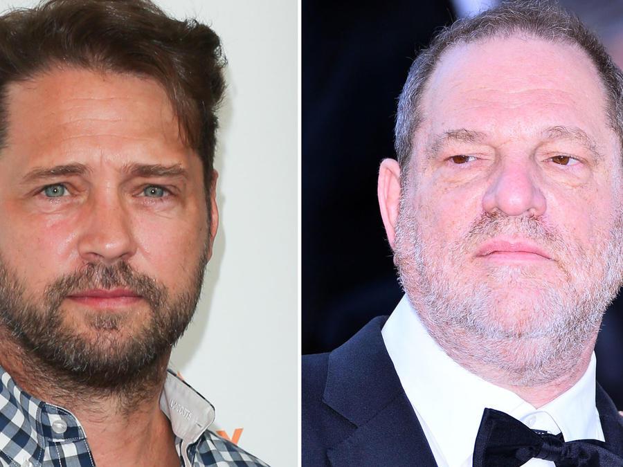 Harvey Weinstein y Jason Priestley