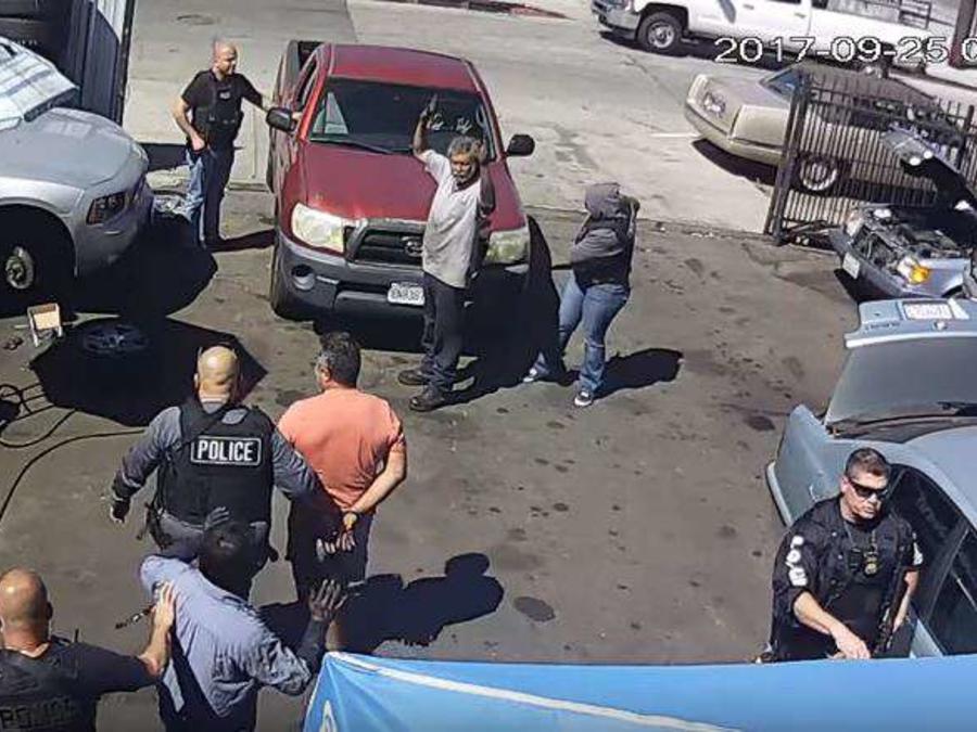 La operación considerada de ilegal quedó registrada en video