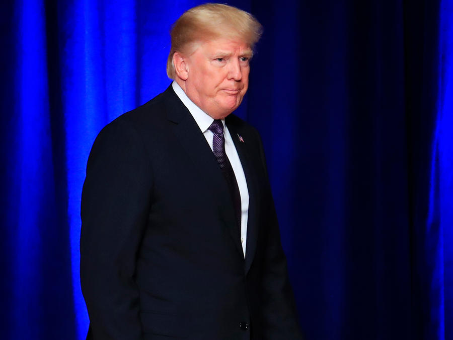 El presidente Donald Trump tras anunciar su nueva estrategia de seguridad nacional el 18 de diciembre del 2017