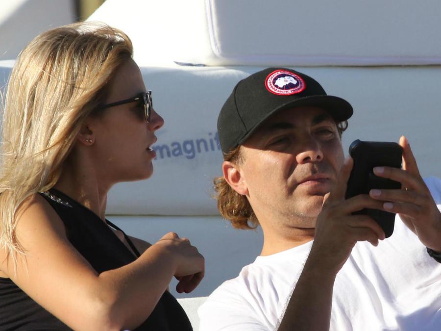 Cristian Castro con Heidi Clair