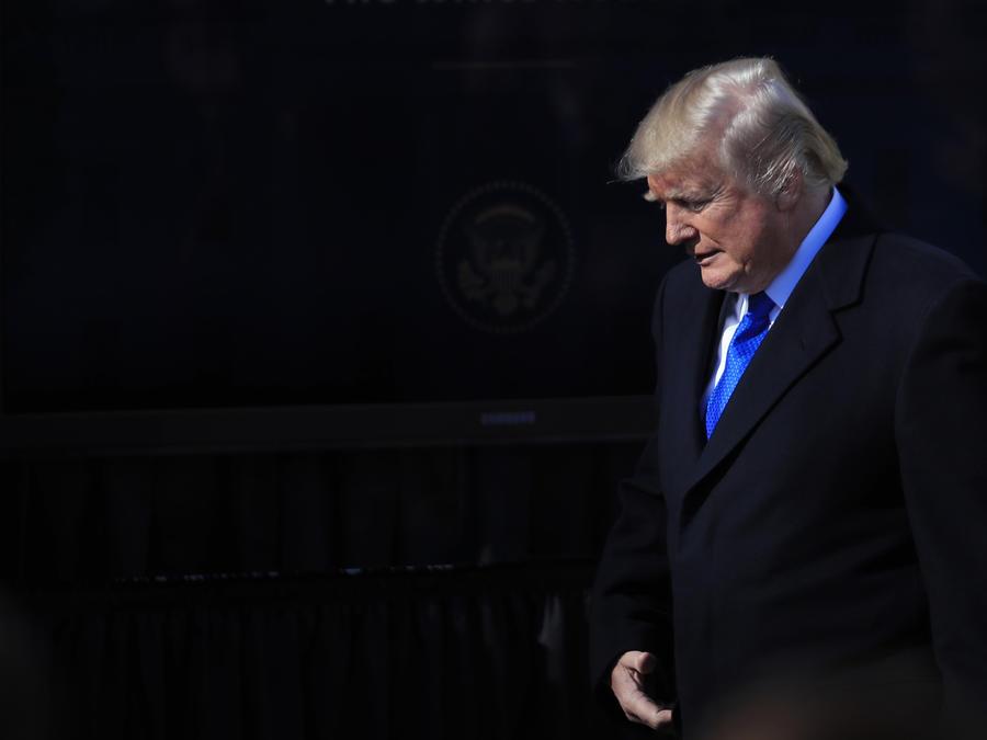 Donald TrumpTrump, tras participar en un evento el pasado viernes en la Casa Blanca.