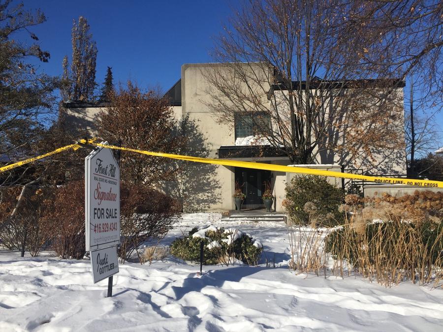 La vivienda de Barry y Honey Sherman, el pasado 6 de enero.