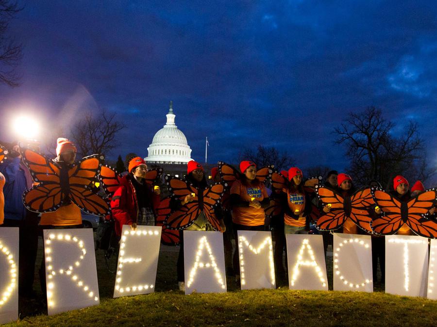 Protestas de soñadores ante el Capitolio de EEUU